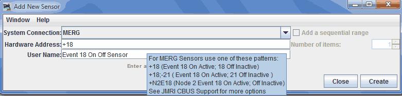 JMRI Hardware Support - MERG CBUS Main Support
