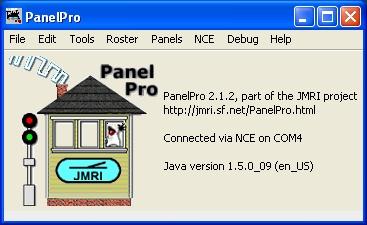 JMRI PanelPro Main Panel