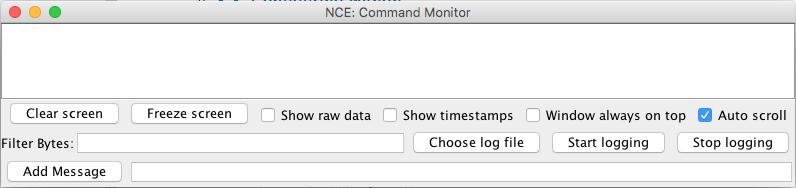 jmri hardware support nce Equipment Wiring Diagrams mand monitor pane