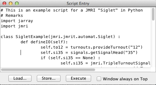 JMRI: Getting Started with Scripting